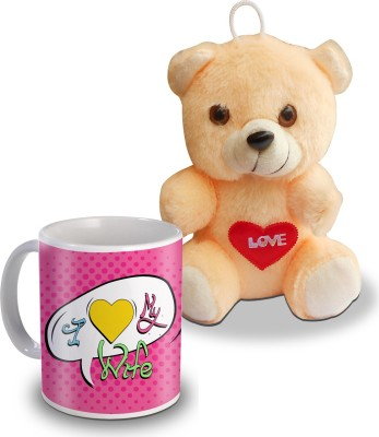 Sky Trends I Love My Wife Teddy And Mug Gifts Gift Set