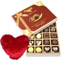 Chocholik Valentine Day Gift - 20Pc Adorable Treat Of Dark And Milk Chocolate Box With Heart Pillow Cushion Gift Set best price on Flipkart @ Rs. 1699