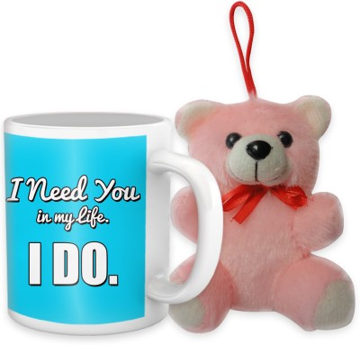 Tiedribbons I Need You In My Life Coffee Mug Teddy Combo Gift Set
