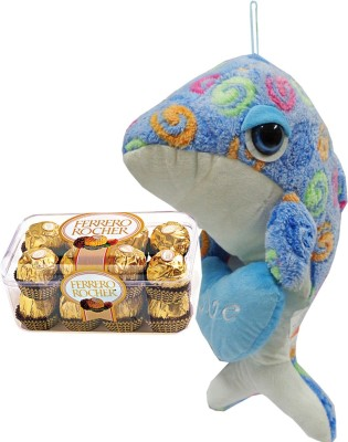 Toygully Blue Dolphin With Heart Gift Set