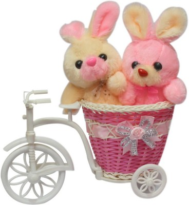 CTW 2 Cute Teddy Bear With Big Beautiful Cycle Gift Set