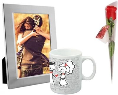 DIZIONARIO Photo Frame Rose Coffee Mug Gift Set