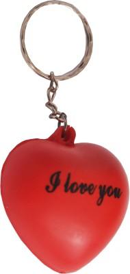 Indigo Creatives Valentine Romantic I Love You Red Heart Shaped Key Chain
