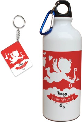 Tiedribbons Valentine special combo of sipper and love key chain Gift Set