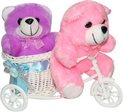 CTW Most Beautiful Couple TeddyBear with Running Cycle Valentine Gift Gift Set