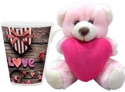 HomeSoGood Gift For My Valentine Coffee Mug With Teddy Valentine Gift Set Gift Set