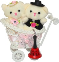 CTW Valentine Gift Teddy Couple Love Cycle Trolly With Ring For Hug Keychain valentine Day Soft Toy, Showpiece Gift Set best price on Flipkart @ Rs. 799