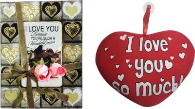 Priyankish I LOVE YOU SO MUCH HEART Soft Toy & Love Card Gift Set