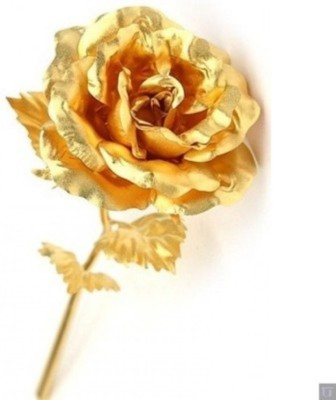 RajHeera Golden Rose Prefect Valentine Gift Showpiece  -  15 cm