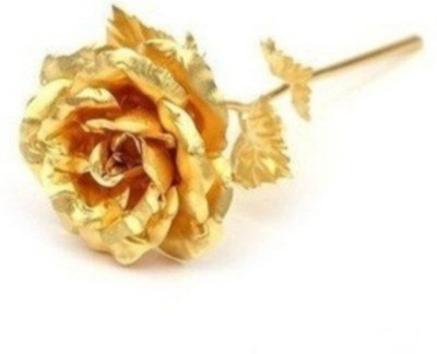 RajHeera Real Gold Dipped Golden Rose Valentine Gift Showpiece  -  15 cm