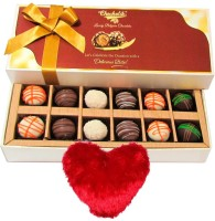 Chocholik Valentine Day Gift - 12Pc Amazingly Delicious Delicate Chocolates Valentine Gift With Heart Pillow Cushion Gift Set best price on Flipkart @ Rs. 1199