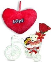 SKY TRENDS Best Valentine Gifts For Red Moments For Valentine Heart Teddy Cycle With Rose Showpiece Gift Set best price on Flipkart @ Rs. 899