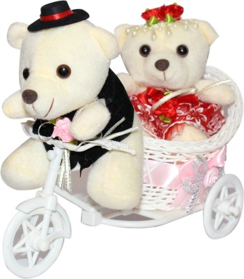 CTW Beautiful Gift Decorative Cycle with 2 Couple Valentine Gift Teddy Gift Set