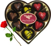 Chocholik 9Pc Sparkling Belgian Chocolates Valentine Gift With Red Rose Artificial Flower Gift Set best price on Flipkart @ Rs. 848