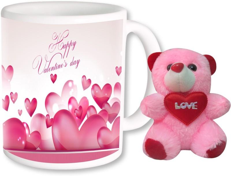 PhotogiftsIndia Happy Valentine Day With Teddy 14 Ceramic Gift Box(Multicolor)