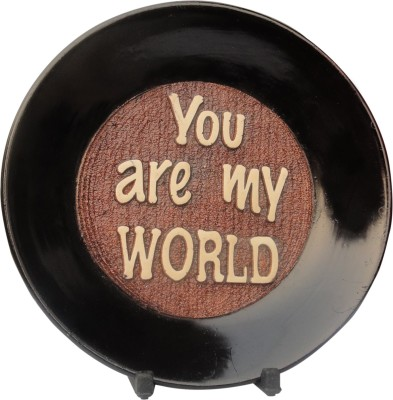 Tiedribbons You are My World Plaque Valentine Day Gifts Showpiece  -  17 cm