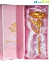BillionBAG Golden 24 k 15cm. Valentine Gift Rose Artificial Flower Gift Set best price on Flipkart @ Rs. 379