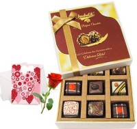 Chocholik Valentine Day Gift - 9Pc Wonderful Treat Of Chocolates With Love Card And Rose Greeting Card Gift Set best price on Flipkart @ Rs. 1018