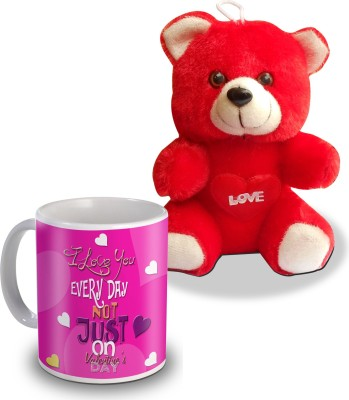 Sky Trends I Love You Everyday Not Just On Valentine,S Day Teddy And Mug Gifts Gift Set