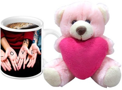 HomeSoGood Awesome Love Bonding Coffee Mug With Teddy Valentine Gift Set Gift Set
