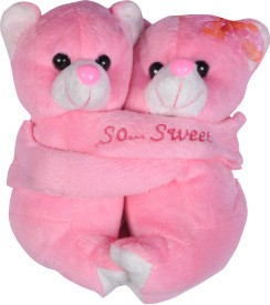 CTW HUG-TEDDY2 PINK COLOR Soft Toy Gift Set