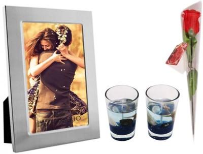 DIZIONARIO Photo Frame Rose Candle Gift Set