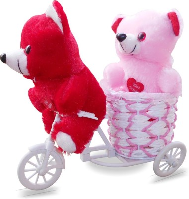 CTW Gift Cycle With 2 Cute Teddy Love Heart Valentine Day Gift Valentine Gift Set