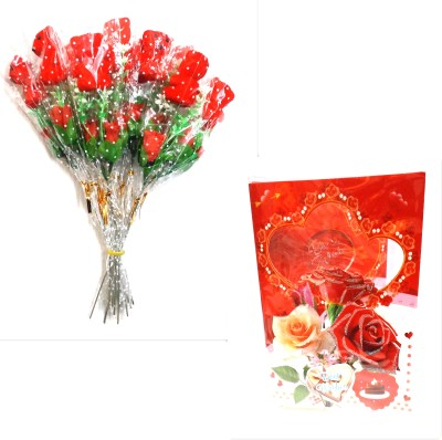 99DailyDeals R55 Combo Of Teddy Booque and Greeting Musical Card For Valentines Day Gift Set