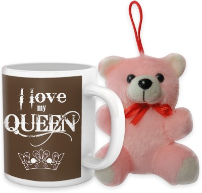 Tiedribbons I Love My Queen Coffee Mug Teddy Combo Gift Set