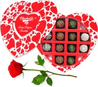 Chocholik 12Pc Luxury Chocolates Valentine Gift With Red Rose Artificial Flower Gift Set best price on Flipkart @ Rs. 1048