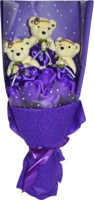Bird In Blue Soap Flower HSFM005 Gift Set
