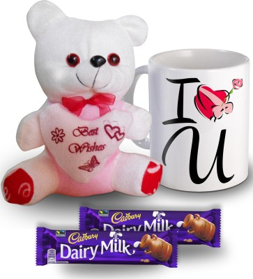 SKY TRENDS I Love You Mug Teddy and Chocolate Valentine Gift Set Gift Set