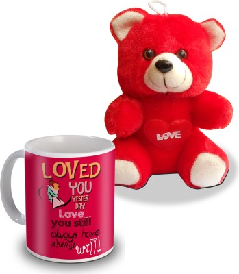 SKY TRENDS Loved You Yesterday Love You Still Teddy and Mug Gifts Gift Set