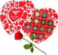 Chocholik 12Pc Delicious Belgian Chocolates Valentine Gift With Red Rose Artificial Flower Gift Set best price on Flipkart @ Rs. 1048