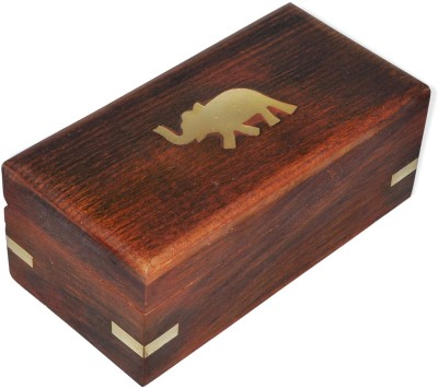 Dakshcraft Elephant Engraved Jewelry Box Makeup And Jewellery Vanity Box