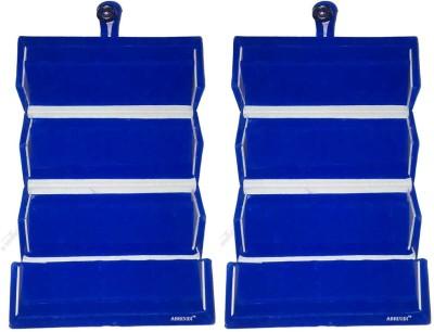 Abhinidi Set of 2 Maroon velvet coated Earring folder case Box Vanity Box(Blue)