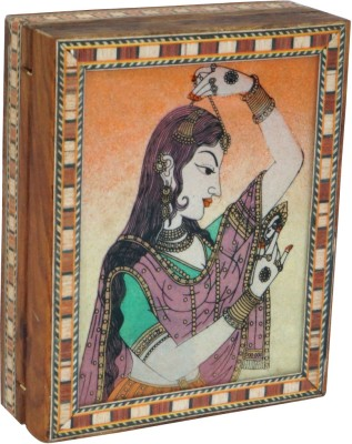 R S Jewels Wooden Gem Stone Painting Rajasthani Jewellery Vanity Box