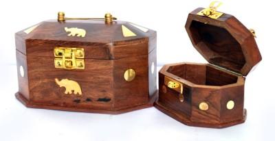 Woodino Set Of 2 Makeup and Jewellery Vanity Box