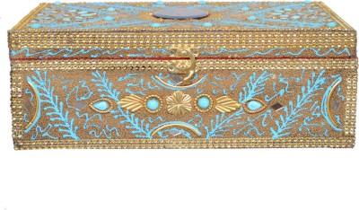 Falak Handicrafts Double Rod Sky Blue Vanity box Bangle Box Vanity Box