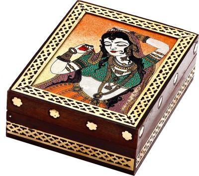Aapno Rajasthan Lady Figure Jewellery Vanity Box