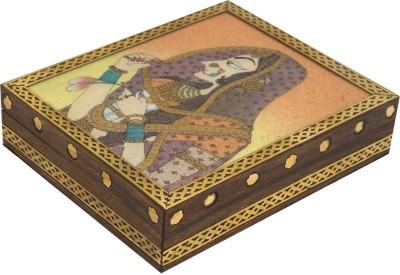 R S Jewels Handmade Wooden Gemstone Painting Jewellery Vanity Box
