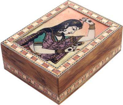 R S Jewels Bani Thani Gemstone Painting Wooden 4 x 3 Jewellery Vanity Box