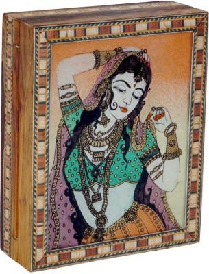 R S Jewels Gem Stone Painting Indian Handicraft Wooden Jewellery Vanity Box