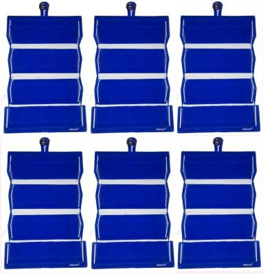 Abhinidi Set of 6 Maroon velvet coated Earring folder case Box Vanity Box(Blue)