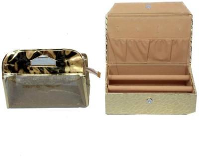 Kuber Industries Bangle Two Rod & Make Up Jewellery Vanity Box