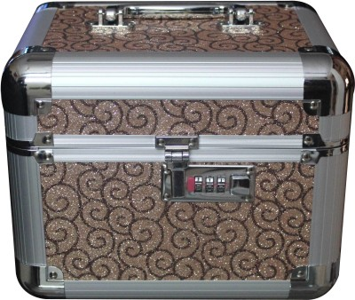 Platinum JD43 Cosmetic 2 Compartment with lock Makeup, Jewellery Vanity Box