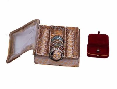 Kuber Industries Bangle Three Roll & Ring Box Jewellery Vanity Box