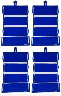 Abhinidi Set of 4 Maroon velvet coated Earring folder case Box Vanity Box(Blue)