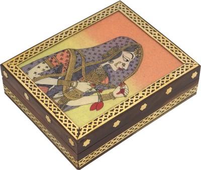R S Jewels Wooden Handicraft Gemstone Painting Jewellery Vanity Box