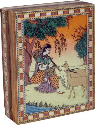 R S Jewels Rajasthani Gem Stone Painting Wooden Jewellery Vanity Box